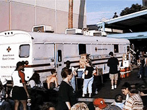 Red Cross Mobile Blood Donation Station